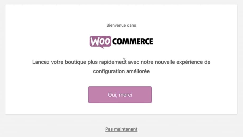 Assistant de configuration WooCommerce