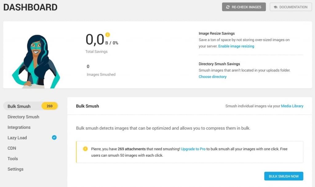 Smush, plugin pour améliorer la vitesse de chargement des images de votre site WordPress