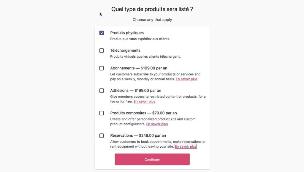 Type de produits vendus sur votre site e-commerce