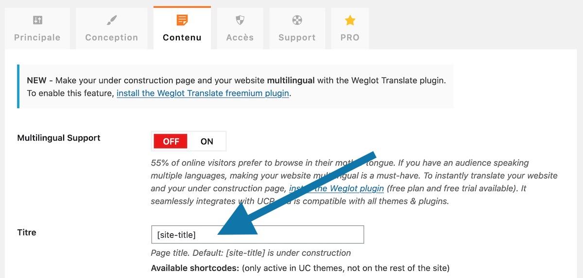 """Contenu de la balise title pour votre page """"en cours de construction"""" (ou """"en cours de maintenance"""")"""