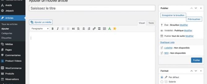 Désactiver Gutenberg pour revenir à l'éditeur classique de WordPress