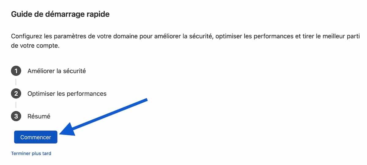 Guide de démarrage rapide de Cloudflare