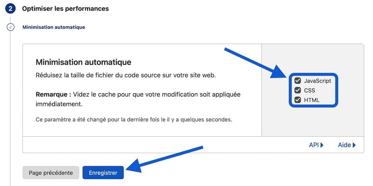 Minification automatique des ressources HTML, CSS et JavaScript