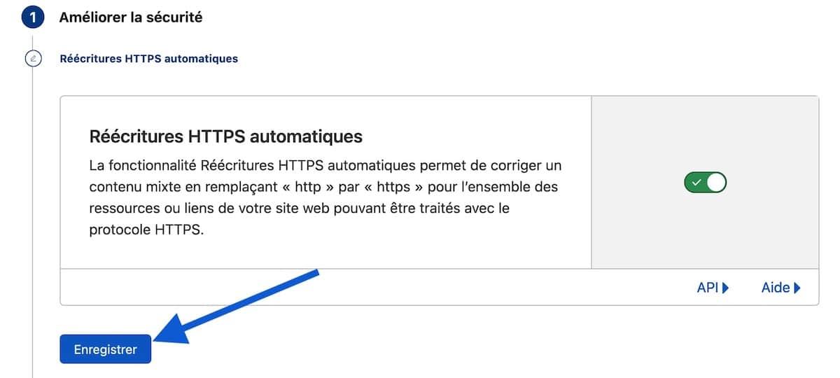 Réécriture HTTPS automatiques