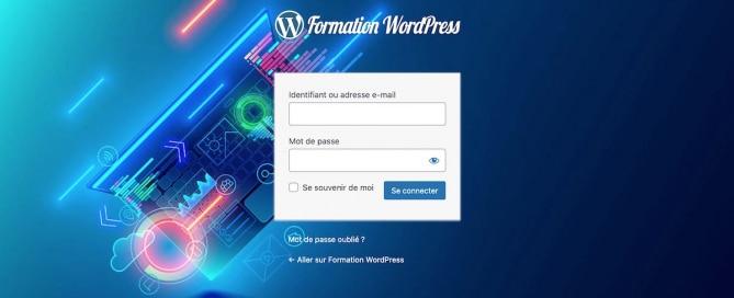 Page de connexion à WordPress personnalisée avec le plugin Avada Branding