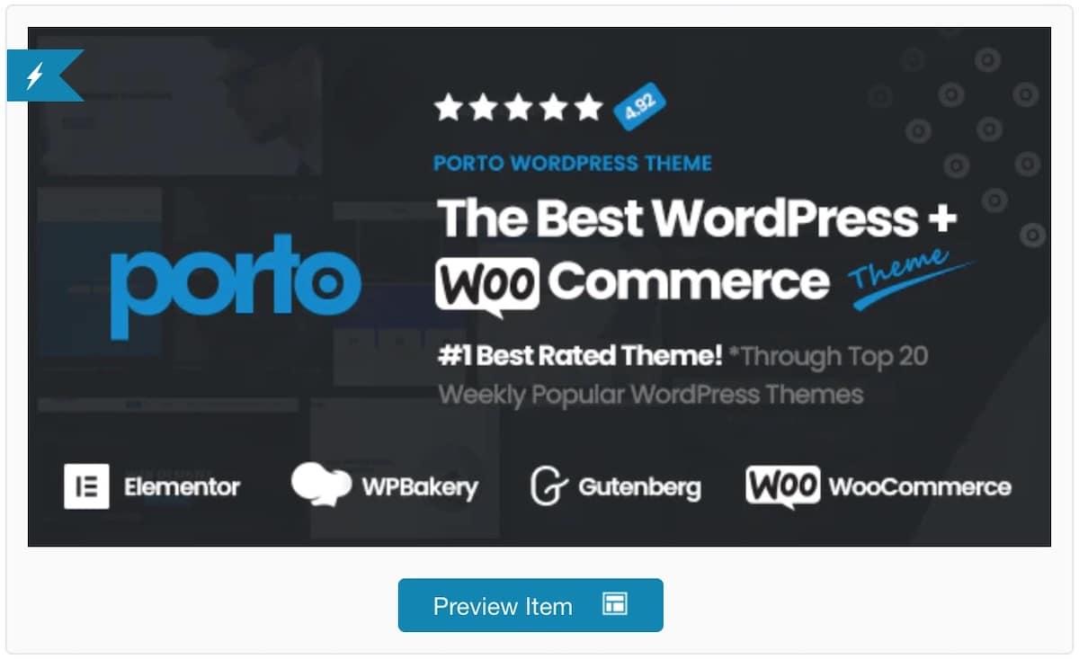 Porto, le meilleur thème Premium pour WooCommerce ?